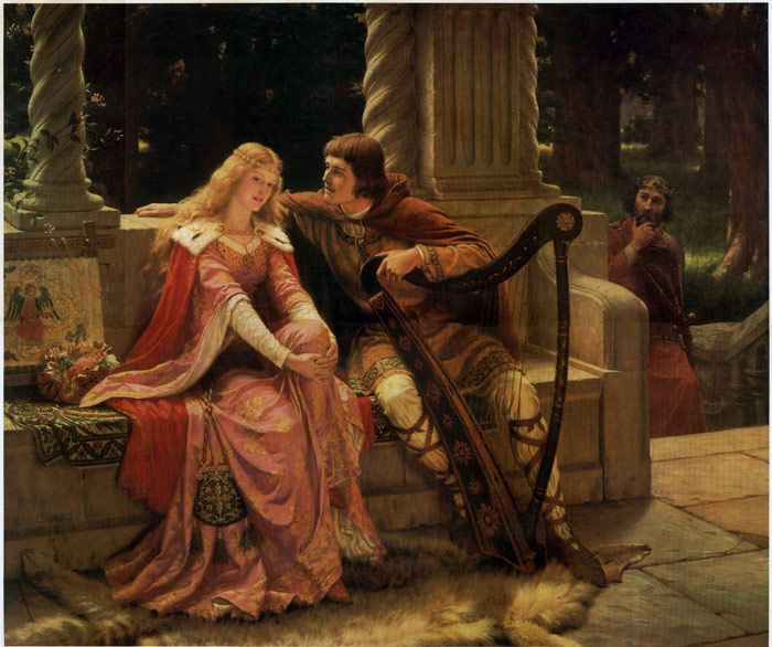 """Tristan & Isolde"" by Edmund Blair Leighton.  I hate the story, but this picture is gorgeous."