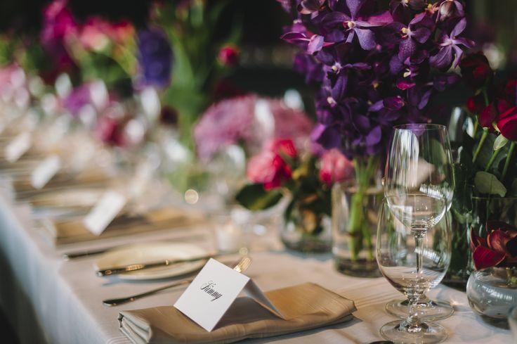 Table set-up at an NGA wedding. #wedding #canberra #NationalgalleryAus #artywedding #florals #flowers #weddingdecor
