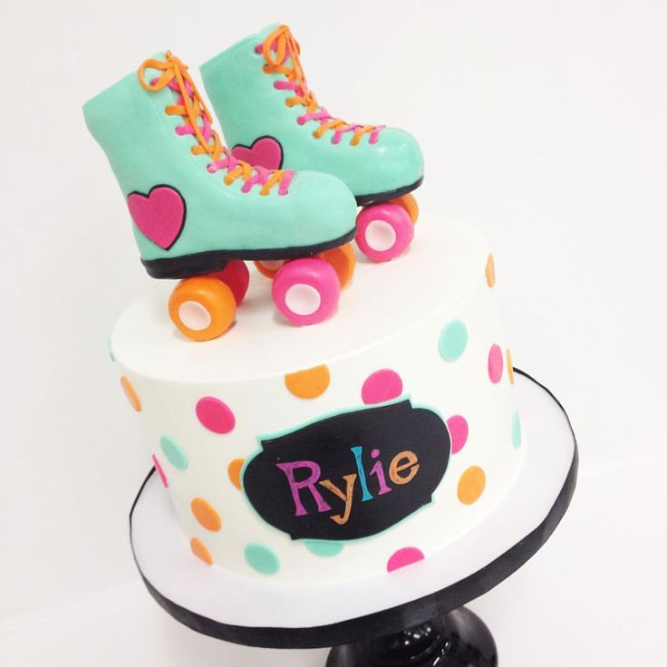 "1,403 Likes, 16 Comments - Melody Brandon (@sweetnsaucyshop) on Instagram: ""Such a fun cake! Amazing skates by @hello_cakesy, @francesmencias"""