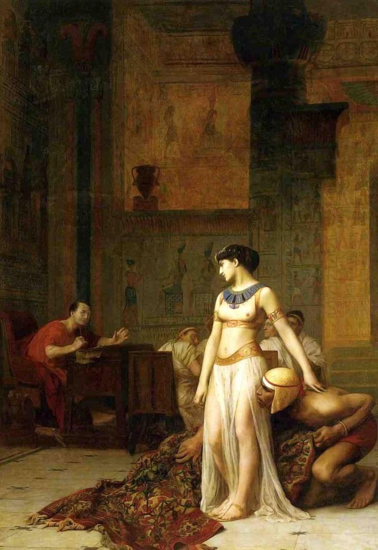 CLEOPATRA Y CÉSAR. Jean-Léon Gérôme. 1866.