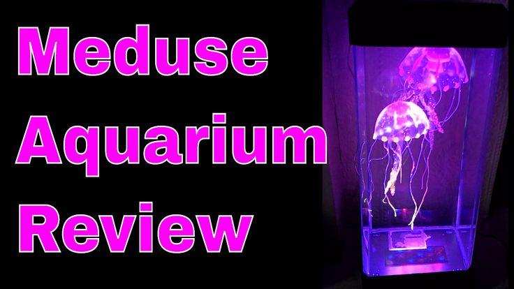 Meduse Aquarium Réservoir Rectangulaire Avec LED Lumineux de Couleur Rev...