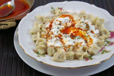 Tyrkisk Ravioli (Manti)