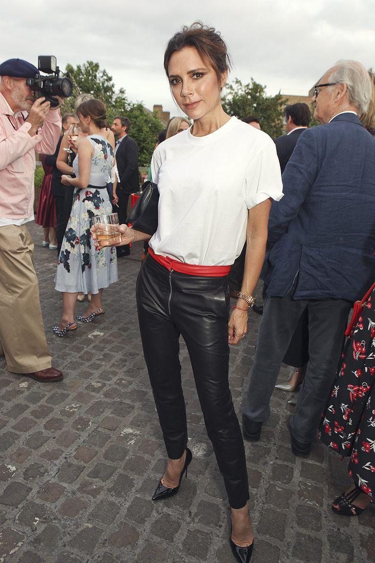 Victoria Beckham attends British Vogue editor Alexandra Shulman Vogue leaving party