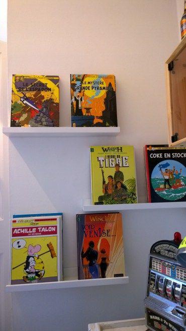Teen boy room's clever comic book shelves   Belle & Cosy