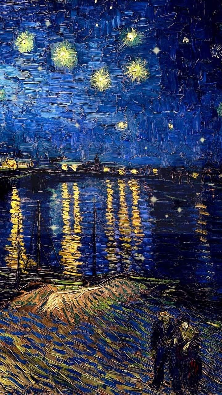 POSTER Nuit Etoilee Sur Le Rhone Starry Night Over the Rhone Vincent Van Gogh