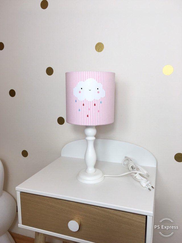 Tischlampe Kinderzimmer Kinderlampe Wolke Nachttischlampe Kinder