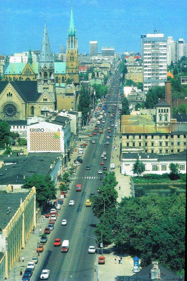 Piotrkowska Łódź Poland  Połowa lat 90tych
