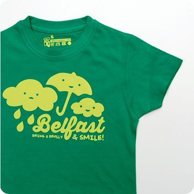 belfast bring a brolly kids t-shirt
