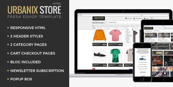 Urbanix Store is modern fresh template for shops of all kind. Our clean and user friendly design is perfect for any customer.
