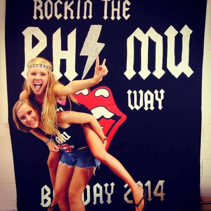 I want to Rock and Roll all night! Phi Mu ECU Bid Day
