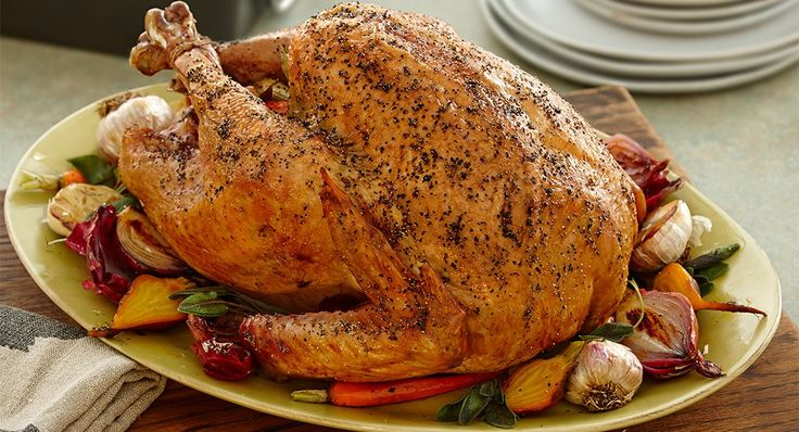 Black Pepper and Beer Brined Turkey...  Brining your holiday turkey in turkey stock, ale, cracked blacked pepper and bay leaves will add moistness as well as rich flavor and color.