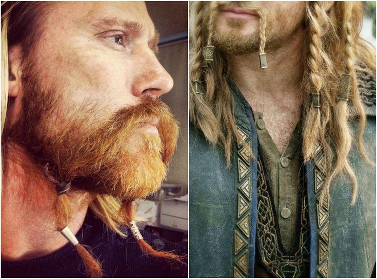 wikinger frisuren männer herren bart flechten #frisuren #hairstyle #hair