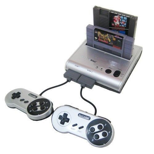 Retro-Bit Retro Duo Twin Video Game System Silver/Black