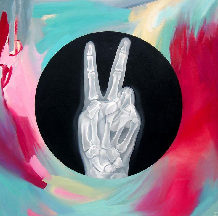 """JENNIFER CLARK - THE CHOICE #1, 2014 Acrylic on Wood Panel  24"""" x 24"""""""