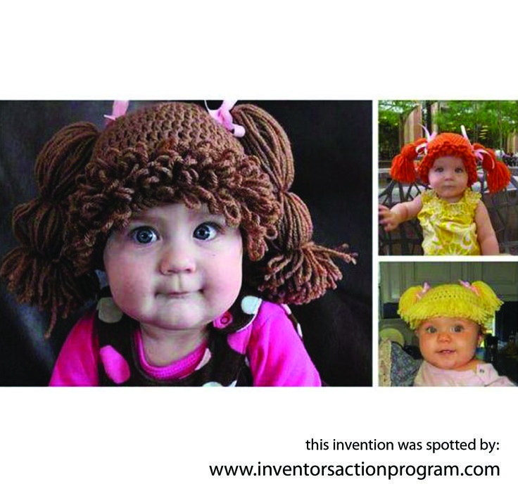 Make your baby a cabbage patch kid with this super cute hat!