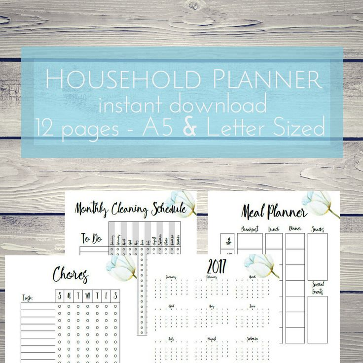 A personal favorite from my Etsy shop https://www.etsy.com/ca/listing/521849803/household-planner-cleaning-checklist