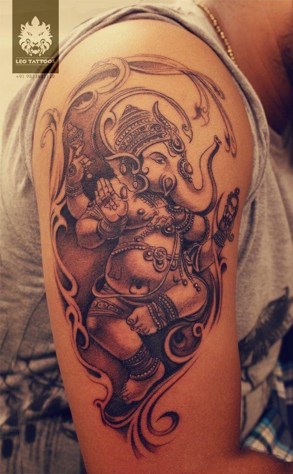 Dancing-Ganesha-Tattoo-Design-2.jpg (595×960)