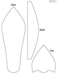 how to make paper shoes templates - 17 best images about shoe themed party on pinterest make