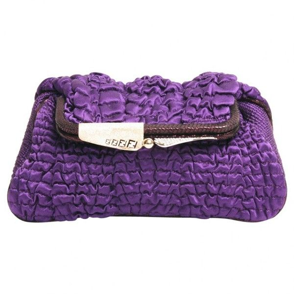 Pre-owned Purple Silk Clutch Bag ($420) ❤ liked on Polyvore featuring bags, handbags, clutches, purple, fendi handbags, pre owned purses, pre owned handbags, purple clutches and fendi clutches
