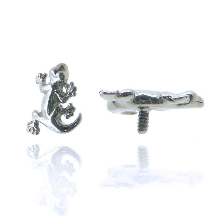 Piercing salamandre en argent pour hélix, labret, madonna ou tragus !
