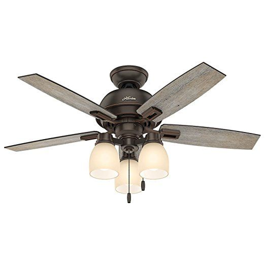 """Hunter 52228 Casual Donegan Three Light Onyx Bengal Ceiling Fan With Light, 44""""    Industrial Ceiling Fans  Monte Carlo Ceiling Fans  Unique Ceiling Fans With Lights  Casablanca Ceiling Fans  Kichler Ceiling Fans  Vintage Ceiling Fans  Minka Ceiling Fans  Ceiling Fan Parts  Westinghouse Ceiling Fans  Emerson Ceiling Fans  Modern Fan  Hampton Bay Ceiling Fan Parts  Minka Aire Ceiling Fans  Bladeless Ceiling Fan"""