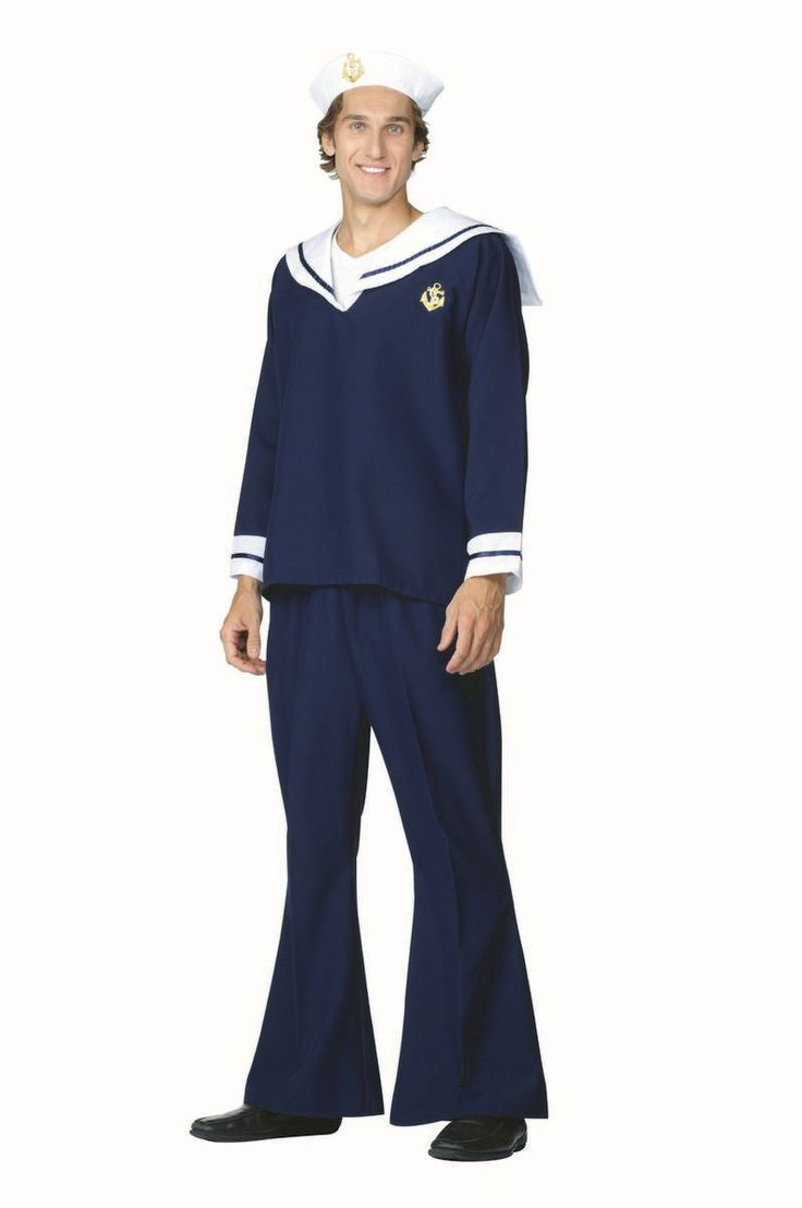 Mens Costumes - Sailor Costume - Navy Sailor Hat