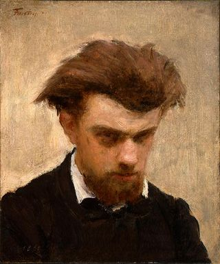 Henri Fantin-Latour, Self-portrait, 1861,  realism, oil on canvas, dimensions: 25 x 21 cm. National Gallery of Art (Washington, DC, United States)