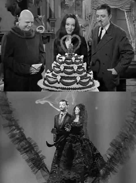 Morticia & Gomez & Uncle Fester- Addams Family