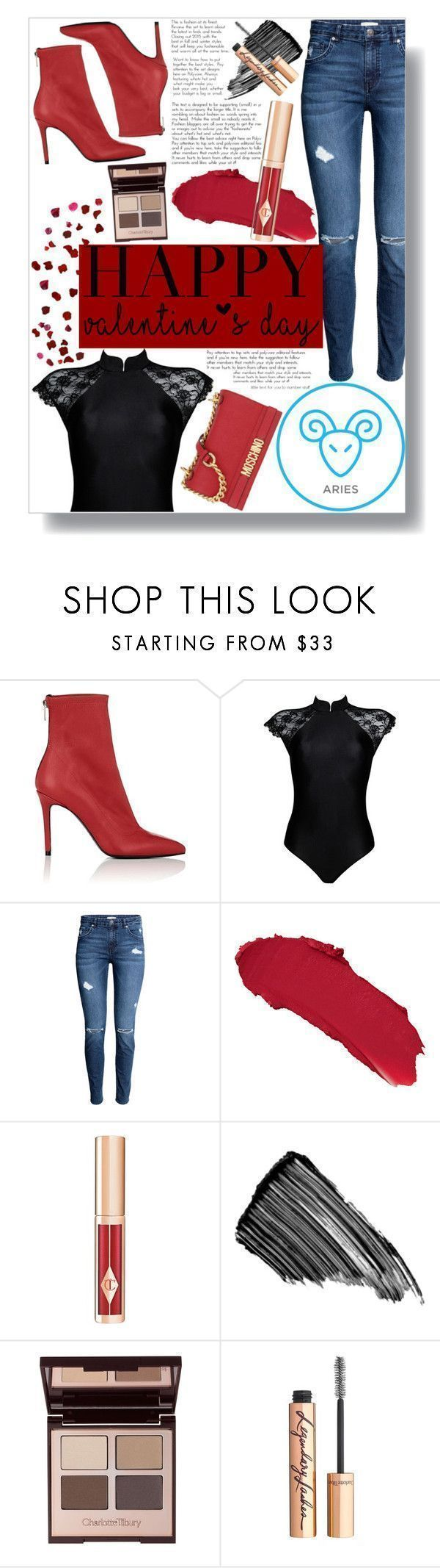 """V-Day Horoscope: Date Night (Aries)"" by sc-styles ❤ liked on Polyvore featuring Barneys New York, OuiHours, Charlotte Tilbury, Sisley and Moschino #horoscopesdates"