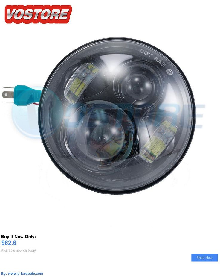 motorcycle parts: 5.75 Motorcycle Black Projector Daymaker Led Bulb Light Headlight For Harley BUY IT NOW ONLY: $62.6 #priceabatemotorcycleparts OR #priceabate
