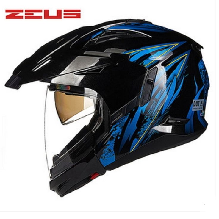 ==> [Free Shipping] Buy Best ZEUS new fashion half full face modular motorcycle helmet DOT approved double lens motocross off Road helmet cascos Moto helmet Online with LOWEST Price | 32799394301