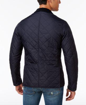 Barbour Men's Diamond-Quilted Jacket - Blue XXL