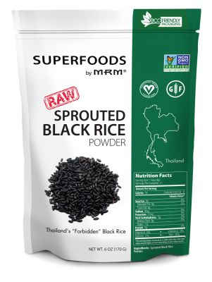 Superfoods - Sprouted Black Rice Powder 170g di MRM - Aelastore.com