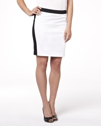 Black and white colour block skirt Summer 2013 Collection