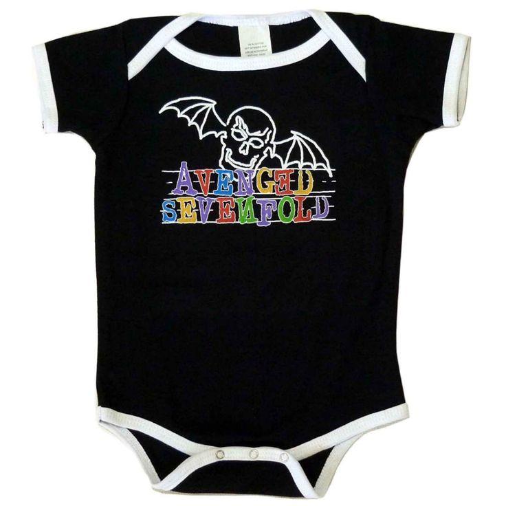 Avenged Sevenfold Doodlebat Baby Onsie