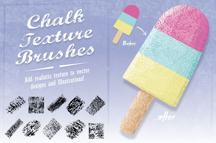 Chalk Texture Brushes by The Artifex Forge on @creativemarket