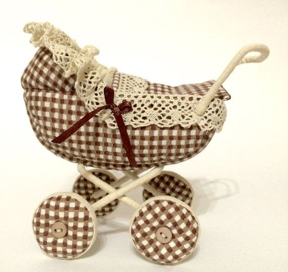 Soft textile toy baby carriage by AnnaToys on Etsy