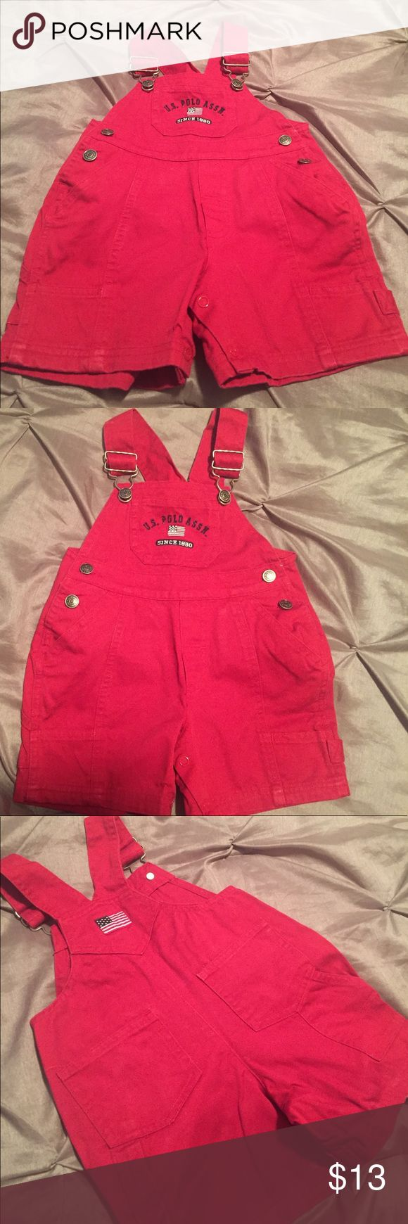 Baby Polo Overalls Polo Red Overalls w/American Flag - No Stains Great Condition U.S. Polo Assn. Other