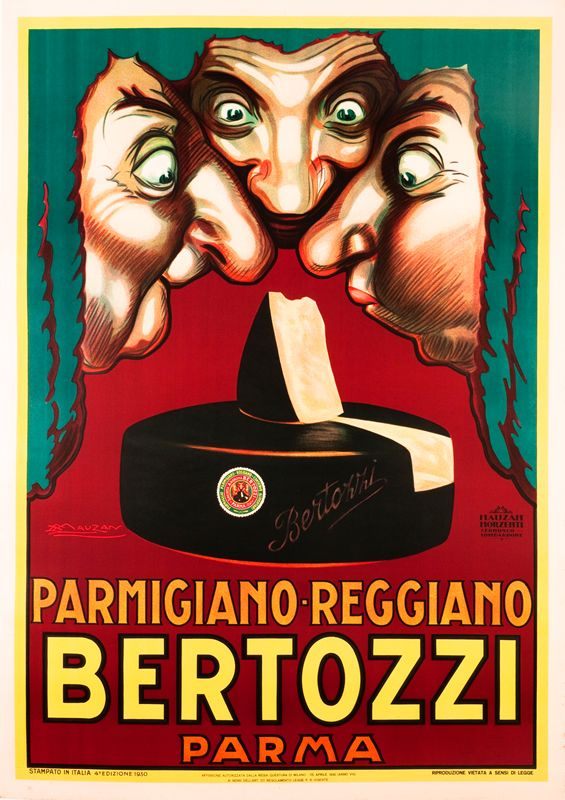 Bertozzi Parmigiano-Reggiano (large) by Mauzan, Achille   Vintage Posters at International Poster Gallery