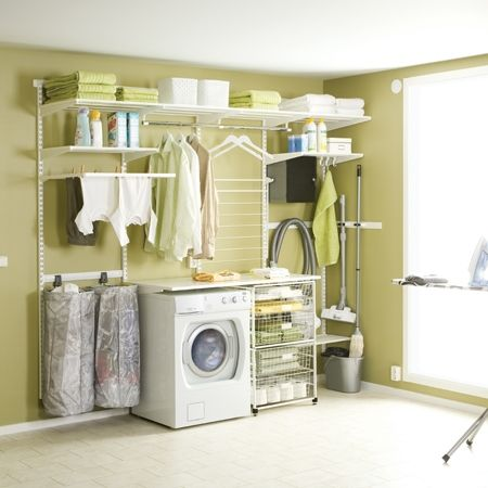 Howards Storage World | Elfa Laundry Solution, but we'd use it for the walk through wardrobe.