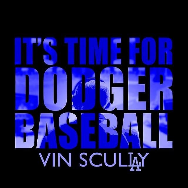 It's time for Dodger Baseball  I don't  love the Dodgers but I do love Vin Scully !