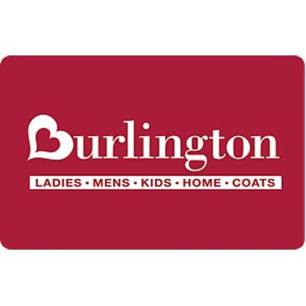 Burlington Coat Factory $100 Gift Card (Email Delivery) ($100) ❤ liked on Polyvore featuring gift cards