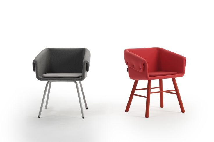 Two versions are available: metal or wooden feet. The ash is available in any colour from Sancal's collection. The metal is available in textured epoxy: black, grey or brown.