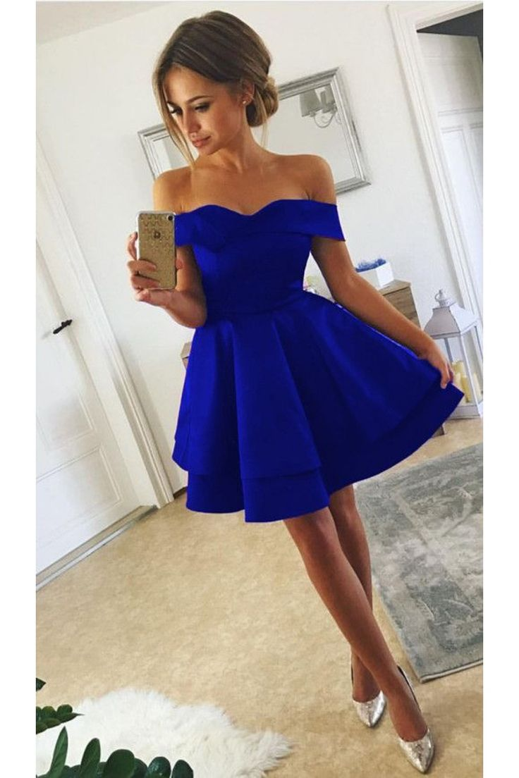 Vestidos | Royal blue homecoming dresses, Prom dresses, Blue homecoming dresses
