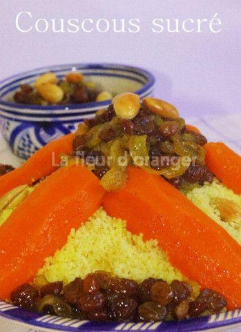 Couscous tfaya : Couscous sucré - Ma fleur d'oranger