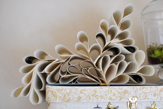 Créer une décoration originale en recyclant un vieux livre