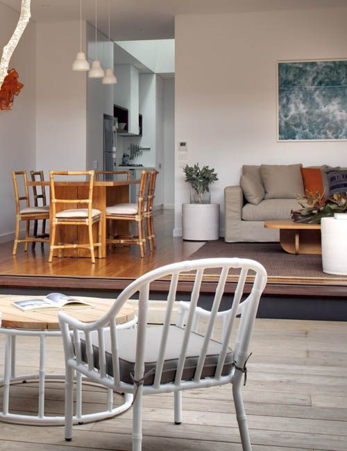 BONDI BEACH PAD | alwill  #outdoor #interiors #diningroom #livingroom #desk #openplanliving