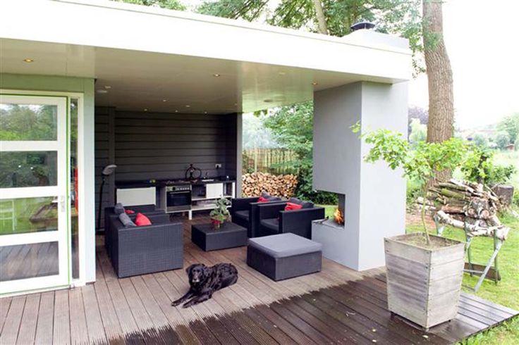 Overdekt terras modern idee n voor het huis pinterest google modern and tuin for Terras modern huis