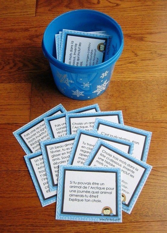 Sujets d'écriture sur l'Arctique (8-12 ans)  ette activité des plus attrayante saura certainement susciter la motivation de vos jeunes auteurs. Idéale pour les périodes d'écriture autonome ou la composante travaux d'écriture des 5 au quotidien. Au cours de cette activité, les élèves rédigent un court texte à partir d'un sujet d'écriture sur le thème de l'Arctique, choisi parmi les sujets proposés.