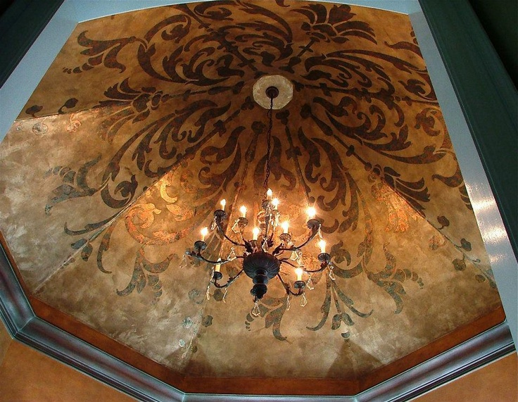 11 best images about metallic finishes on pinterest for Ceiling mural painting techniques
